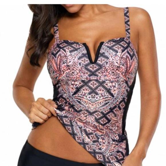 8ec2e59c57960 Lili Gal Swim | Bathing Suit Print Tankini Set Brand New | Poshmark